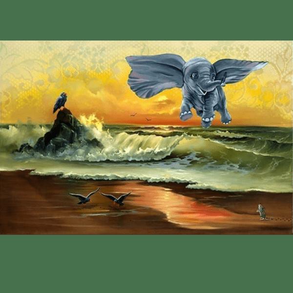 Dumbo dont just flySOAR giclee nws