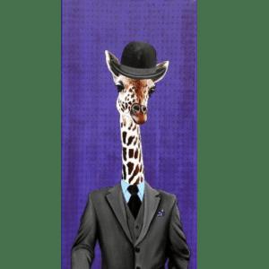 Highbrow Giraffe giclee nws