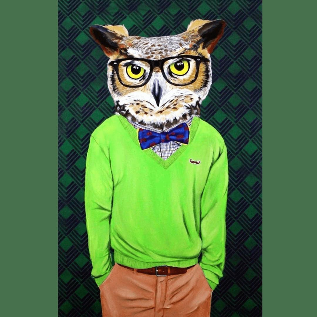 intellectu-owl giclee