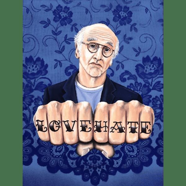 Larry David LOVE HATE giclee nws