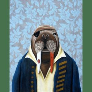 Pirate Walrus giclee nws