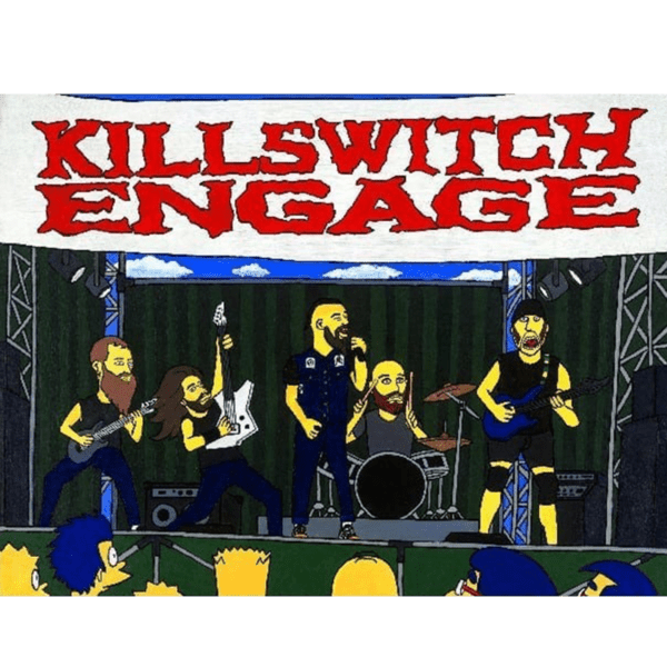 cartoon killswitch engage giclee nws