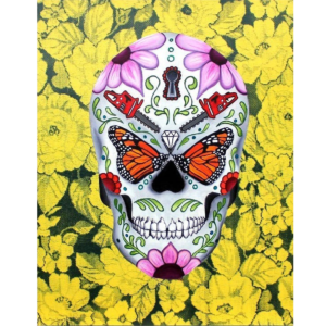 day of th edead monarch butterfly giclee nws
