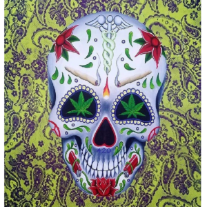 day of the dead medical marijuana giclee nws