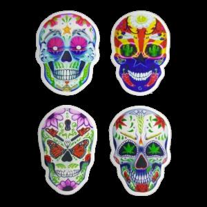 day of the dead skull sticker packws