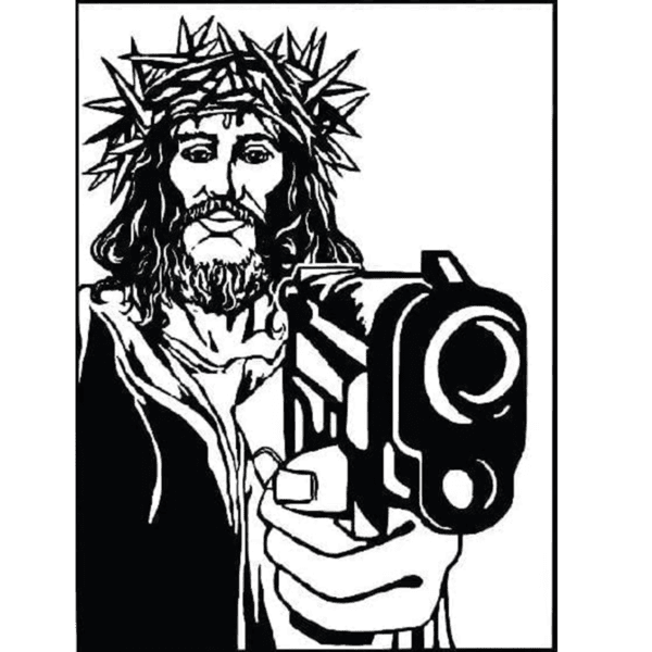 gangsta Jesus giclee nws