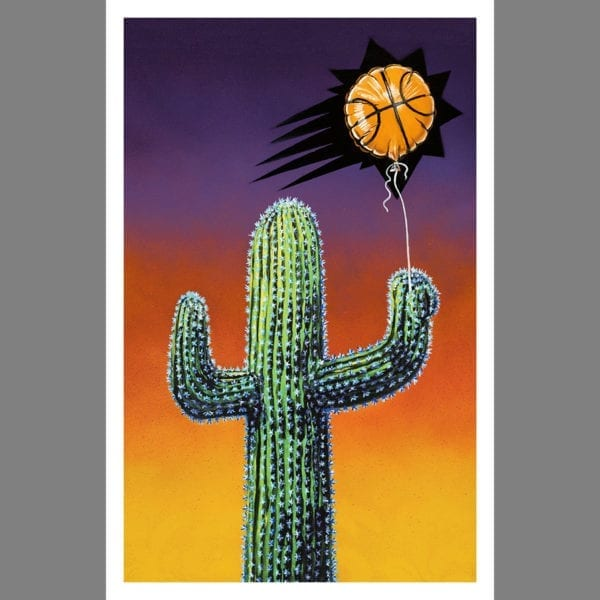 Phoenix Suns quilty pleasures cactus art