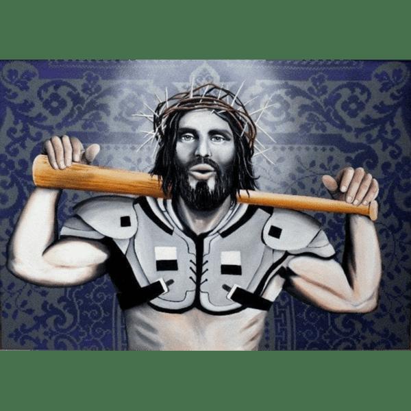 jesus knows black and blue fine art ws