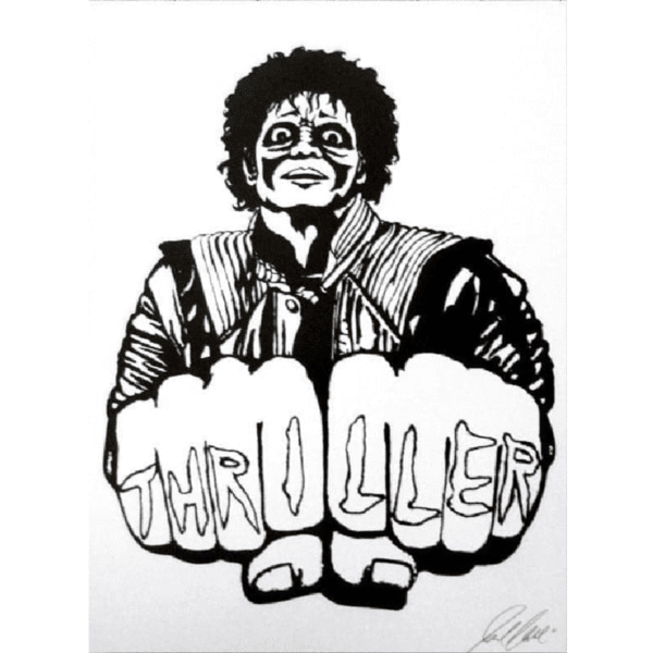 michael jackson thriller giclee nws