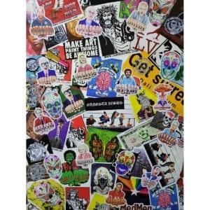 single sticker collage image